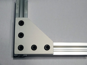 Joining Plate - 90 Degree  - Natural Anodized