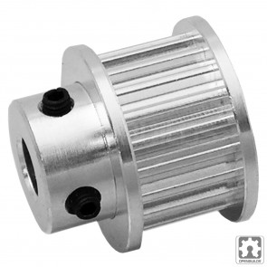 """Timing Pulley - 3GT (GT2-3M) - 20 Tooth - 9mm Belt - .25"""" Bore"""