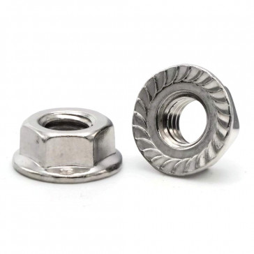 Serrated Flanged Nut - M8 Zinc Plated