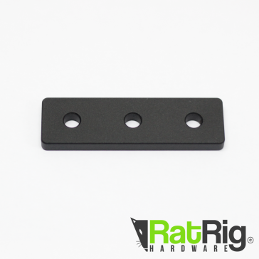 Joining Plate - 3 Hole Strip - Black Anodized