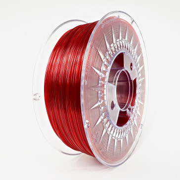 Filament - Devil Design 1KG - PETG 1.75 - RUBY RED TRANSPARENT