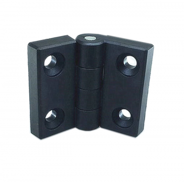 Hinge - Black thermoplastic - for 3030
