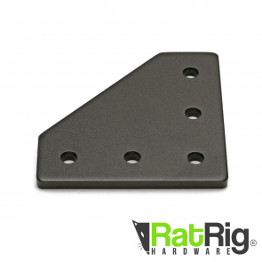 Joining Plate for 3030 - 90 Degree - Black Powder Coated