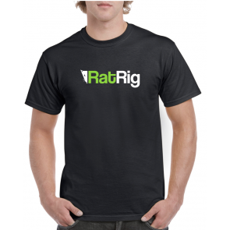 Black T-Shirt w/ Rat Rig Logo - Male Cut - Multiple Sizes