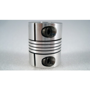 """1/4"""" x 8mm Flexible Coupling - Small Defect (B-STOCK!)"""