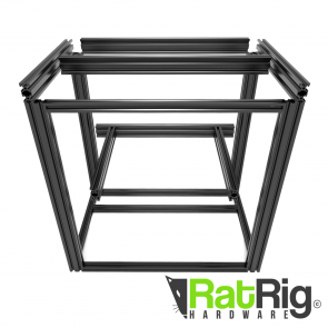 D-BOT 300x300 3D Printer Aluminium Rail Bundle (Black)