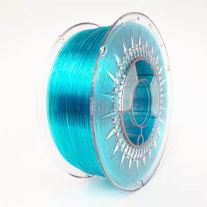 Filament - Devil Design 1KG - PETG 1.75 - BLUE TRANSPARENT